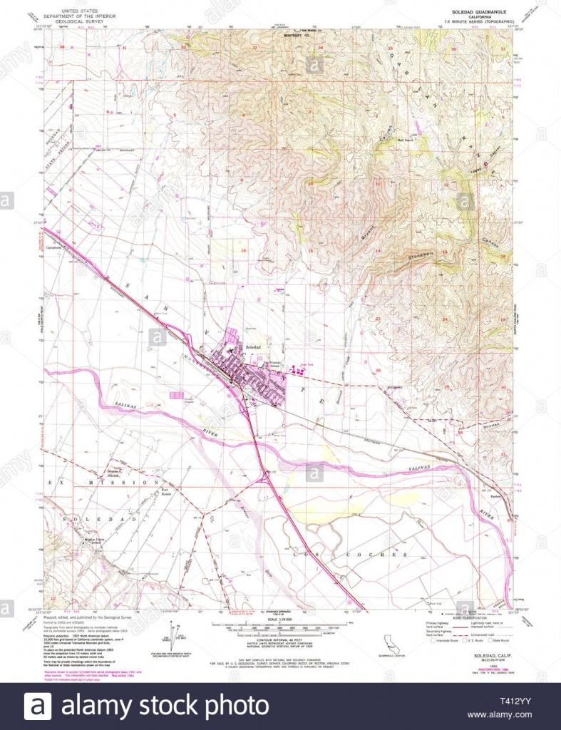 Usgs Topo Map California Ca Soledad 300576 1955 24000 Restoration - Soledad California Map
