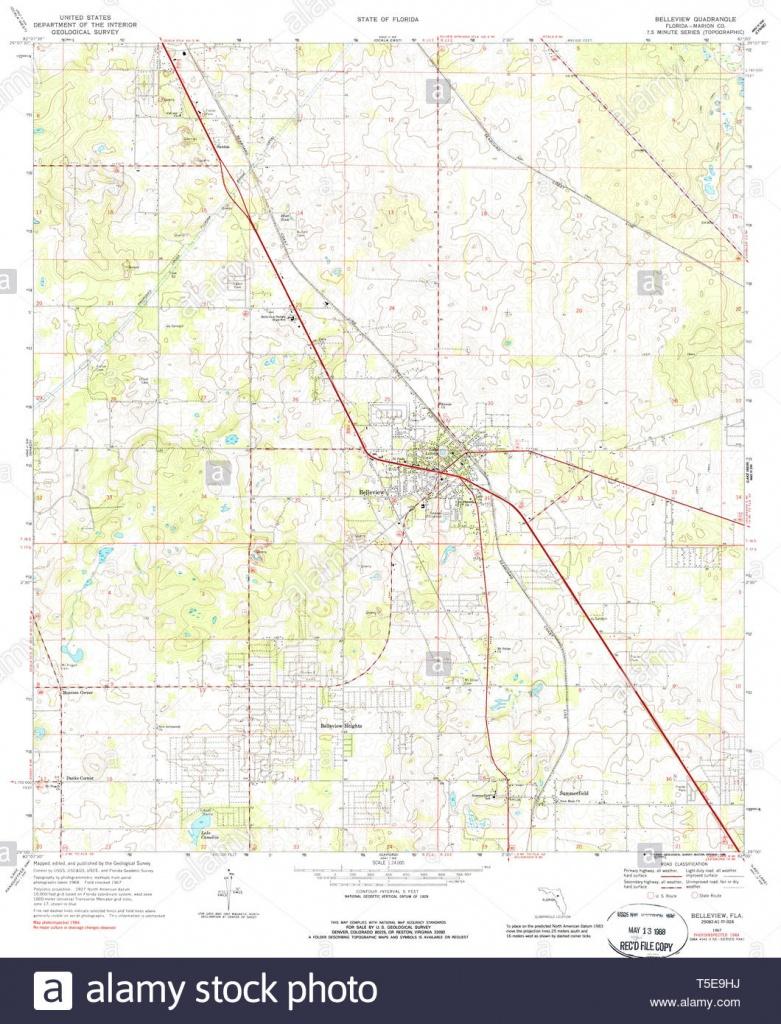 Usgs Topo Map Florida Fl Belleview 345161 1967 24000 Restoration - Belleview Florida Map