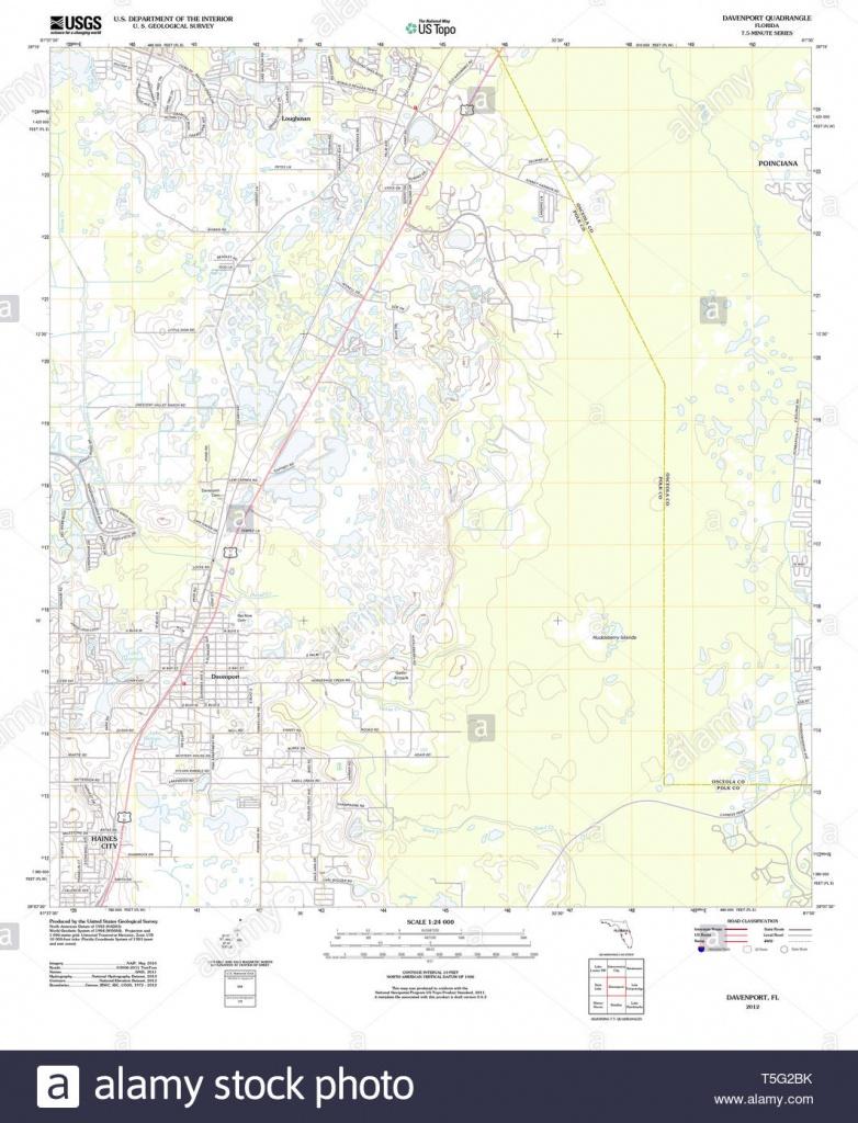 Usgs Topo Map Florida Fl Davenport 20120720 Tm Restoration Stock - Davenport Florida Map