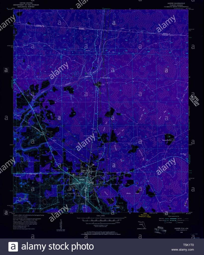 Usgs Topo Map Florida Fl Jasper 346843 1955 24000 Inverted - Jasper Florida Map