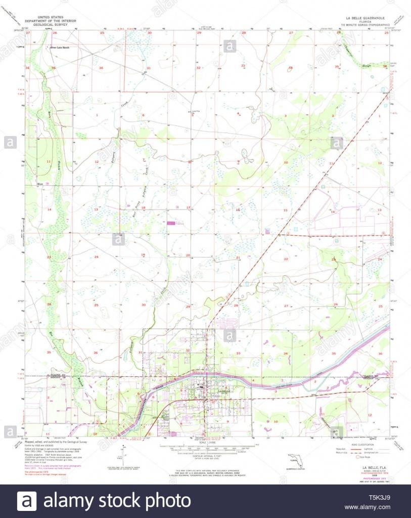 Usgs Topo Map Florida Fl La Belle 346953 1958 24000 Restoration - Labelle Florida Map