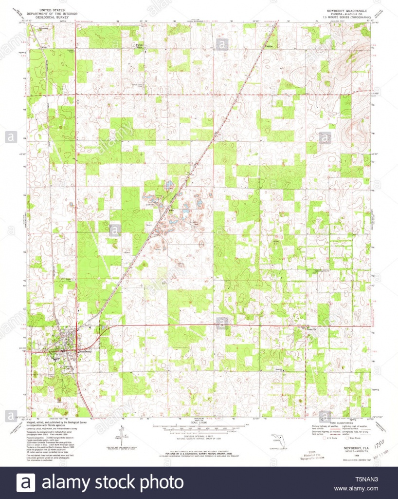 Usgs Topo Map Florida Fl Newberry 347640 1968 24000 Restoration - Newberry Florida Map