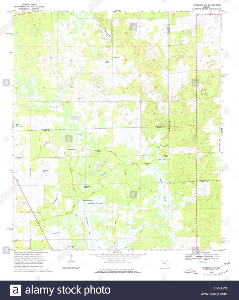 Usgs Topo Map Florida Fl Newberry Sw 347642 1968 24000 Restoration - Newberry Florida Map