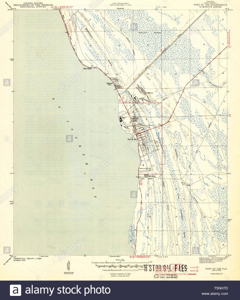 Usgs Topo Map Florida Fl Port St Joe 348210 1943 31680 Restoration - Port St Joe Florida Map
