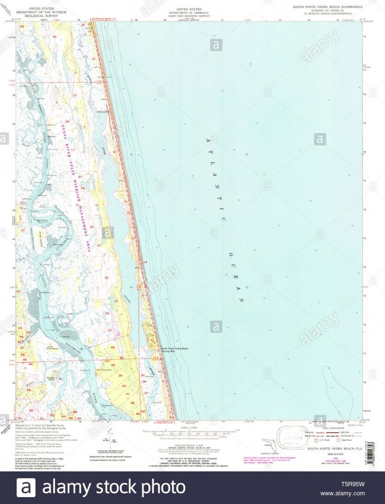 Usgs Topo Map Florida Fl South Ponte Vedra Beach 348579 1952 24000 - Ponte Vedra Florida Map