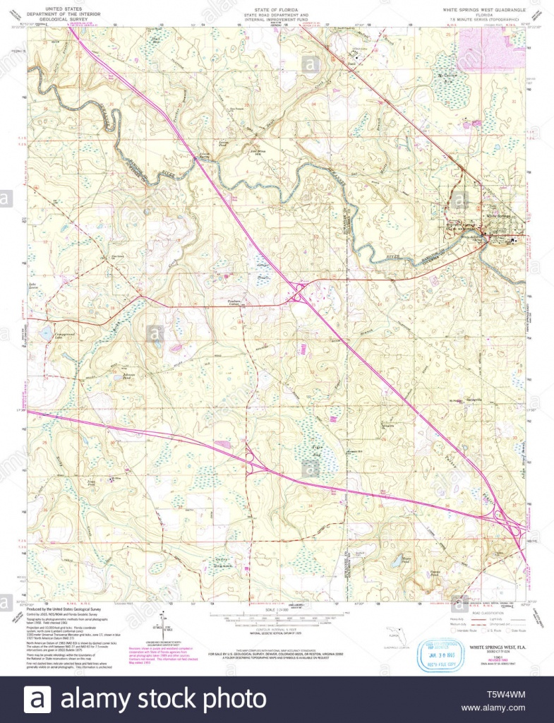 Usgs Topo Map Florida Fl White Springs West 349103 1961 24000 - White Springs Florida Map