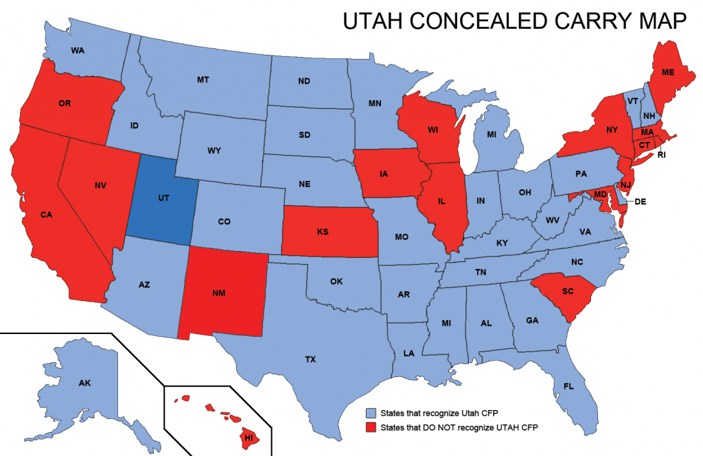 Utah Concealed Weapons Permit Reciprocity Map | Misc | Concealed - Florida Ccw Map