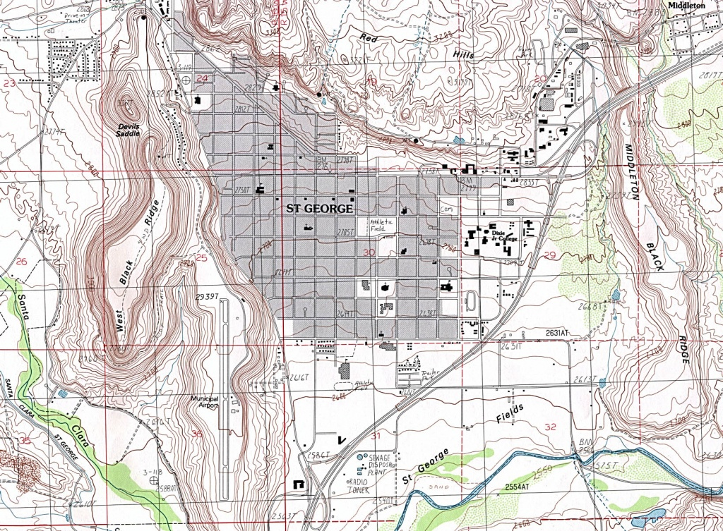 Utah Maps - Perry-Castañeda Map Collection - Ut Library Online - Printable Map Of St George Utah
