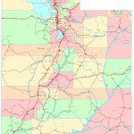 Utah Printable Map   Printable Map Of Utah