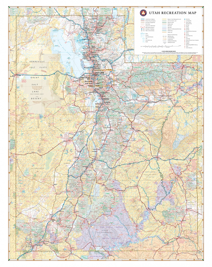 Utah Recreation Map — Benchmark Maps - Northern California State Parks Map