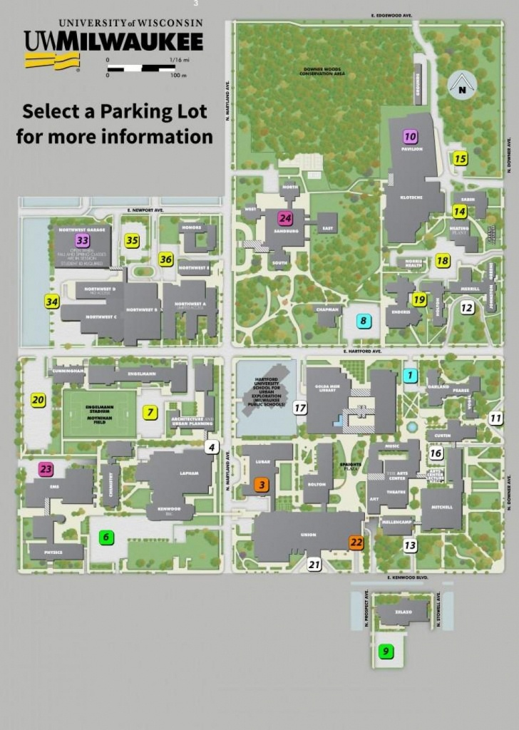 Uw Milwaukee Campus Map - University Of Wisconsin Milwaukee Campus - Printable Uw Madison Campus Map