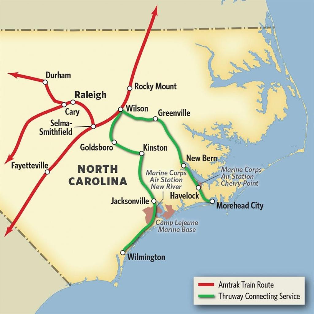 Vacations In North Carolinatrain & Thruway Bus | Amtrak - Amtrak Florida Map