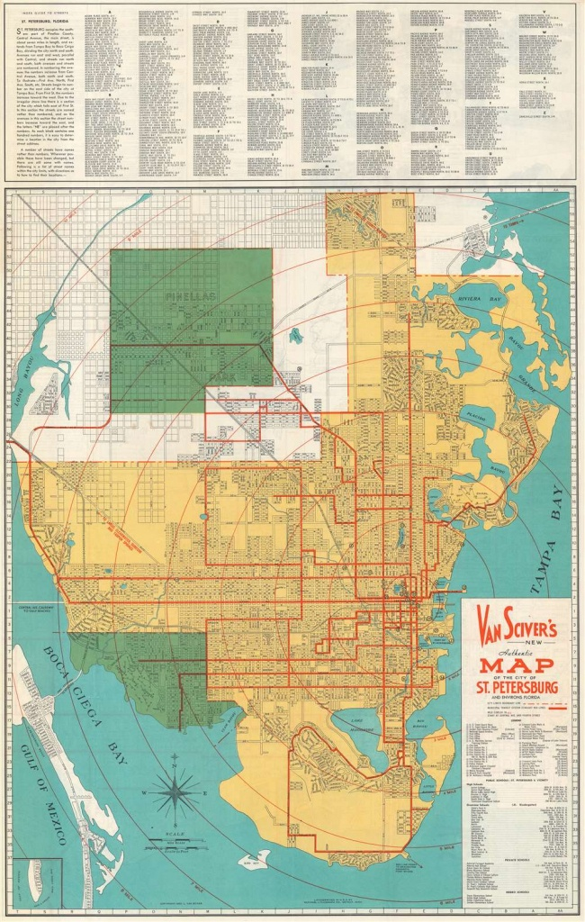 Van Sciver's New Authentic Map Of The City Of St. Petersburg And - City Map Of St Petersburg Florida