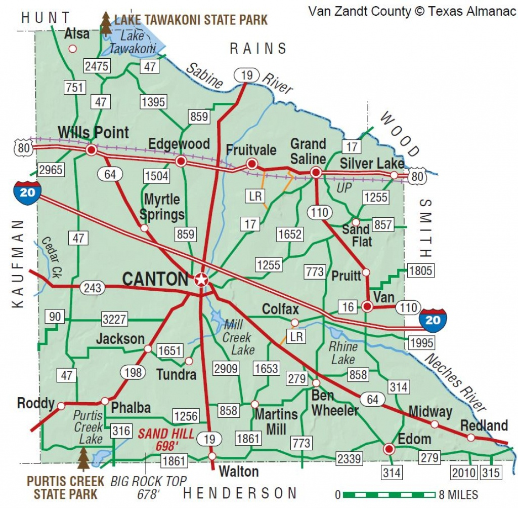 Van Zandt County | The Handbook Of Texas Online| Texas State - Van Zandt County Texas Map