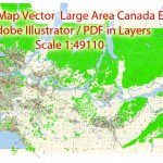 Vancouver Pdf Map Large Long Area Canada In Layers Editable Adobe Pdf   Printable Map Of Vancouver