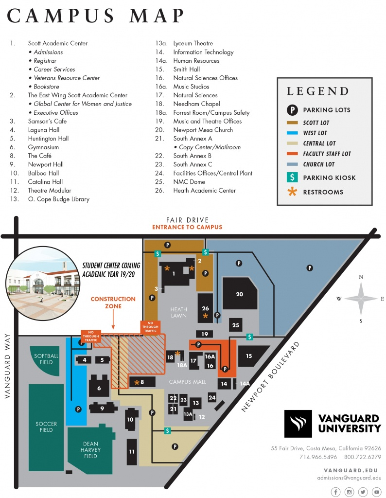 Vanguard University - Map & Location - California Institute Of The Arts Campus Map