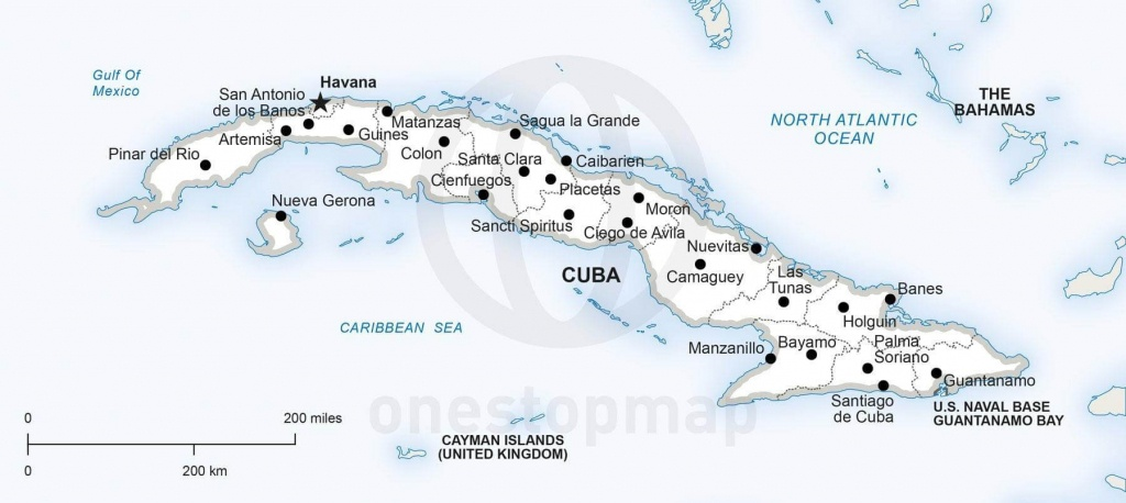Vector Map Of Cuba Political   One Stop Map - Printable Outline Map Of Cuba