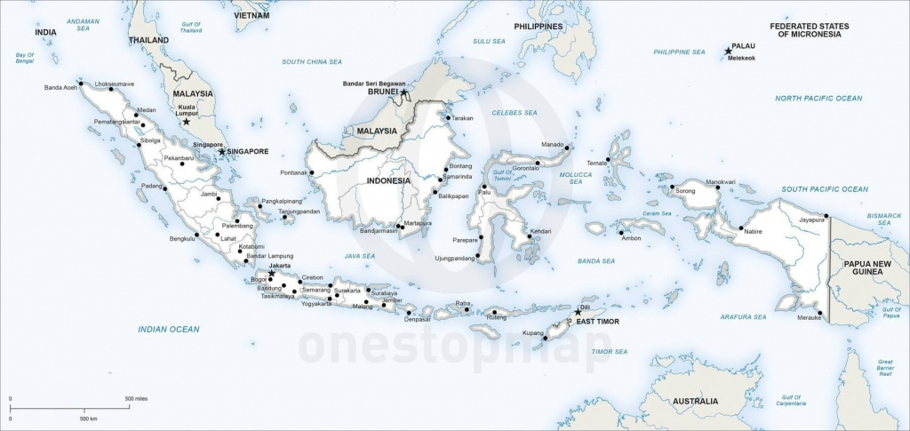Vector Map Of Indonesia Political   One Stop Map - Printable Map Of Indonesia
