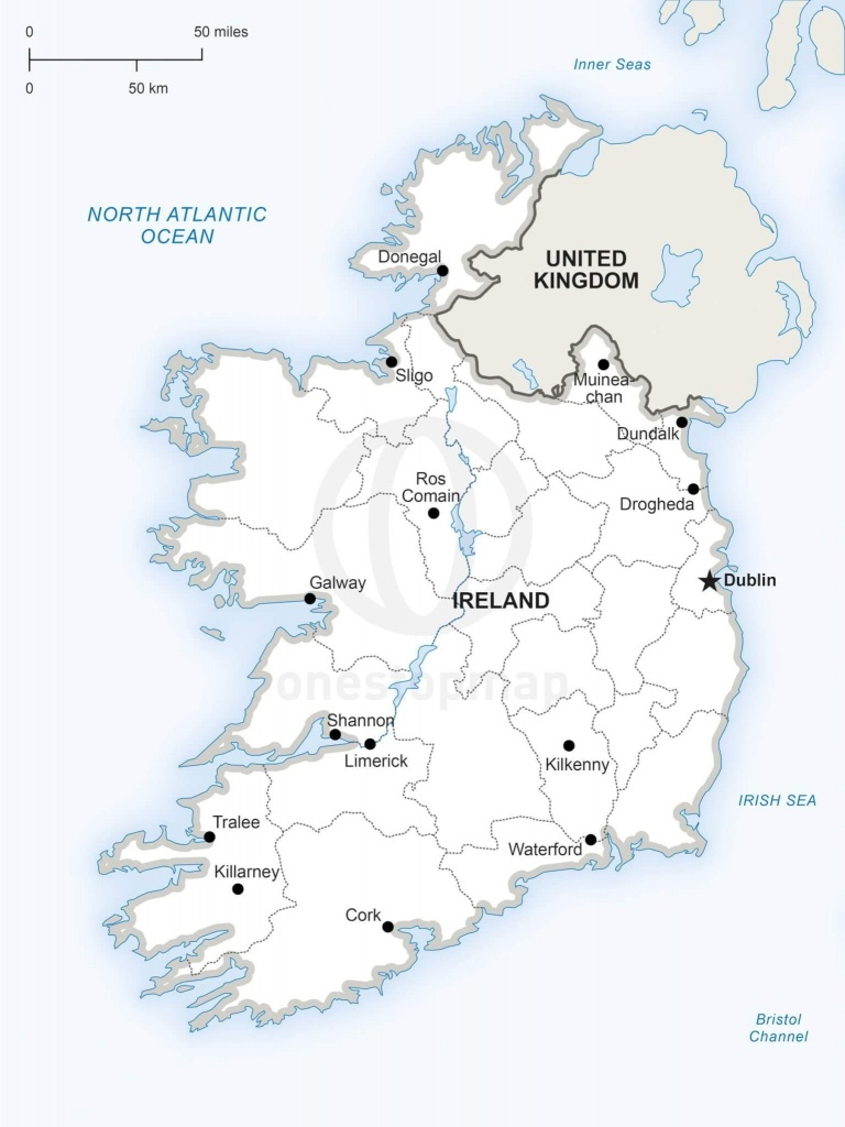 Vector Map Of Ireland Political   One Stop Map - Printable Map Of Ireland
