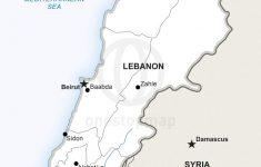 Printable Map Of Lebanon