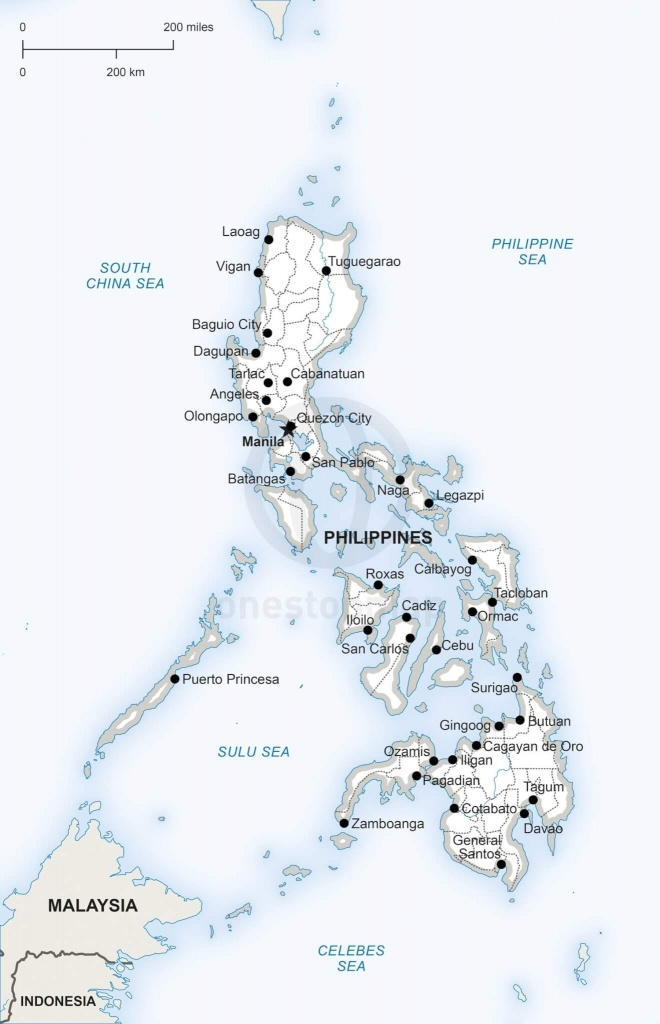 Vector Map Of Philippines Political | One Stop Map - Printable Map Of The Philippines