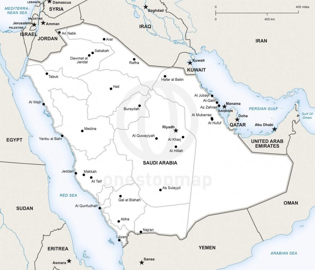 Vector Map Of Saudi Arabia Political   One Stop Map - Printable Map Of Saudi Arabia