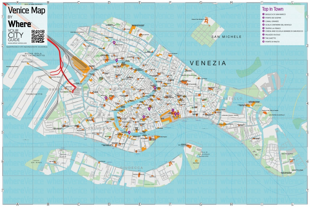 Venice City Map - Free Download In Printable Version   Where Venice - Venice Printable Tourist Map
