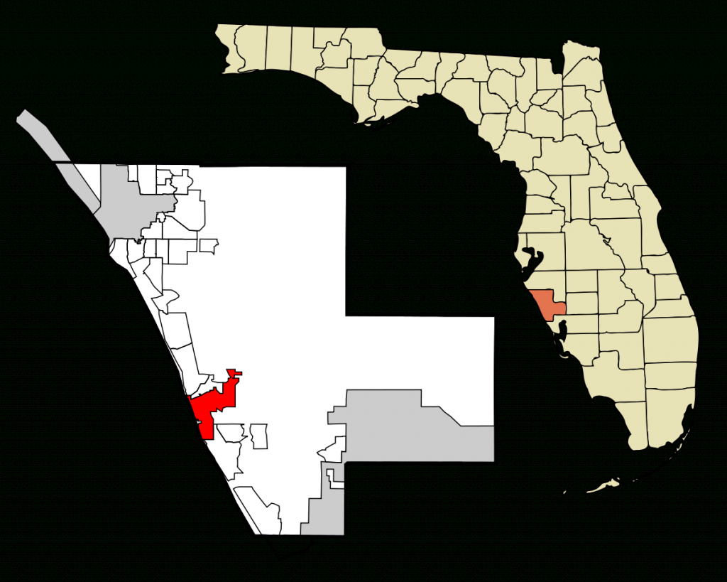 Venice, Florida - Wikipedia - Map Of Florida Showing Venice Beach