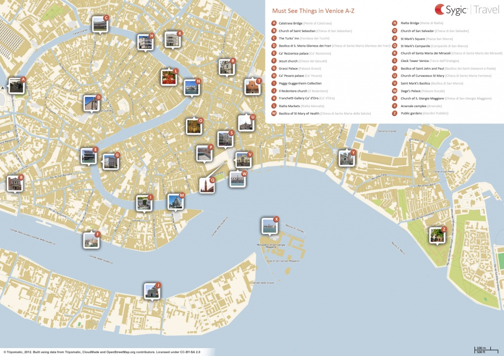 Venice Printable Tourist Map | Sygic Travel - Venice Printable Tourist Map