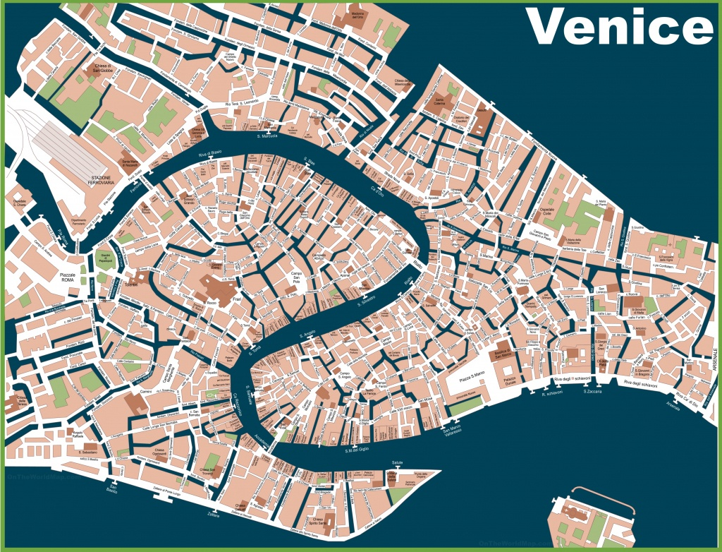 Venice Street Map Great Street Map Of Venice Italy Printable - Venice Street Map Printable