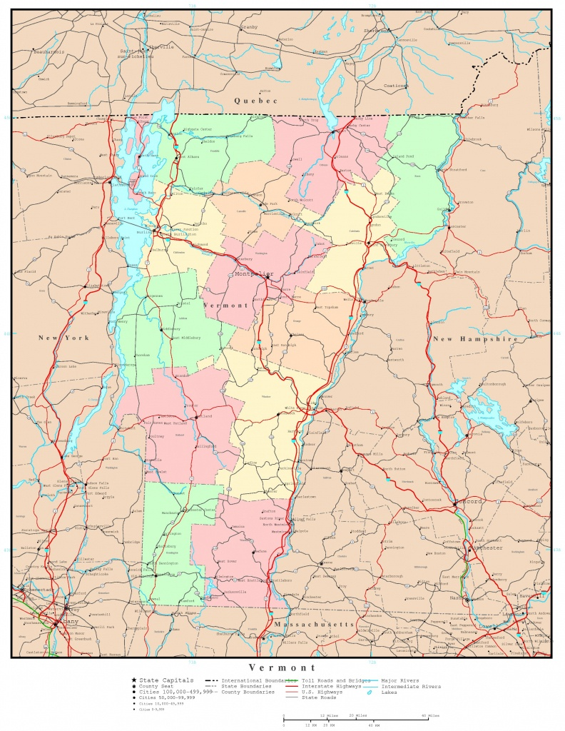 Vermont Political Map - Printable Map Of Vermont