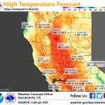 Very Warm Weather Across Interior Northern California This Weekend   Northern California Weather Map