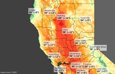 Very Warm Weather Across Interior Northern California This Weekend – Northern California Weather Map