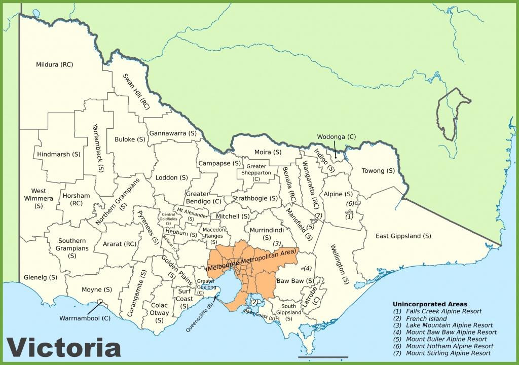 Victoria State Maps   Australia   Maps Of Victoria (Vic) - Printable Map Of Victoria Australia