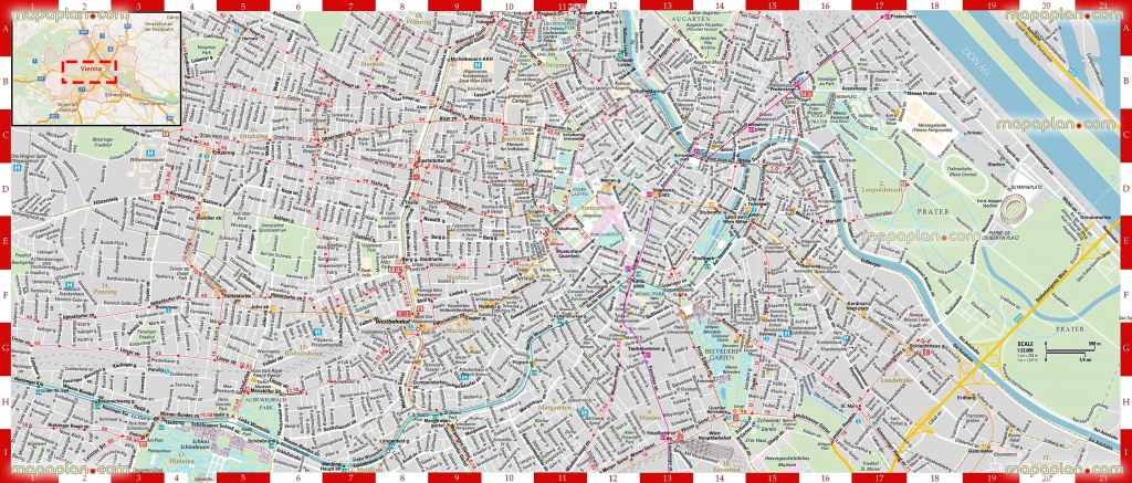 Vienna Map - Detailed, Printable, High Quality Road Guide & Street - Printable Travel Maps