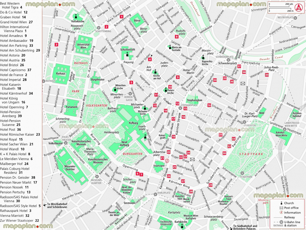 Vienna Maps - Top Tourist Attractions - Free, Printable City Street - Printable Map Of Vienna