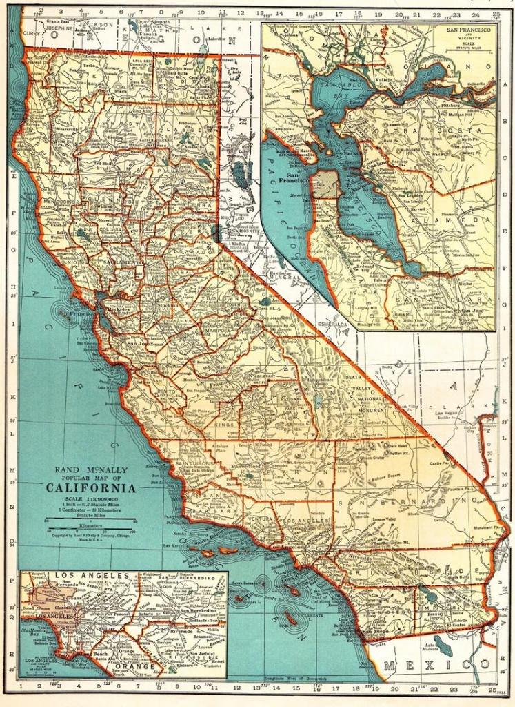 Vintage California Map Pillow | Etsy - Vintage California Map