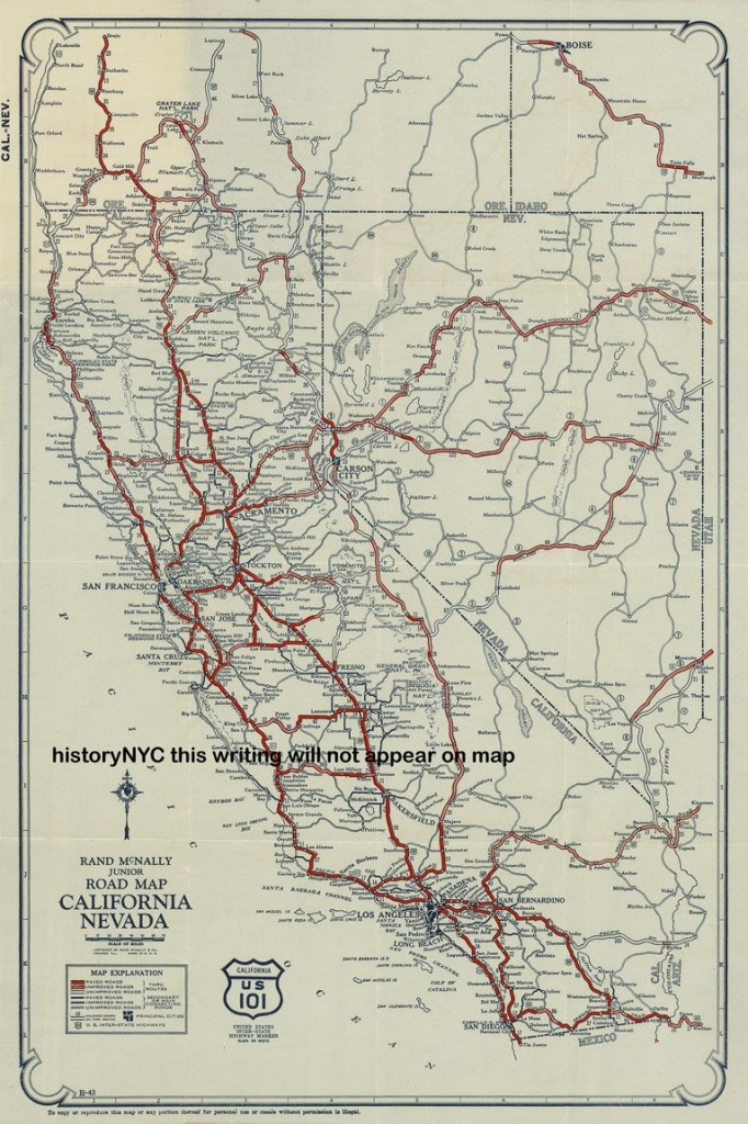 Vintage California Road Map - Google Search | California Road Trip - California Road Map Google