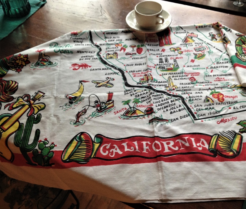 Vintage California Tablecloth California Map Tablecloth | Etsy - Vintage California Map Tablecloth