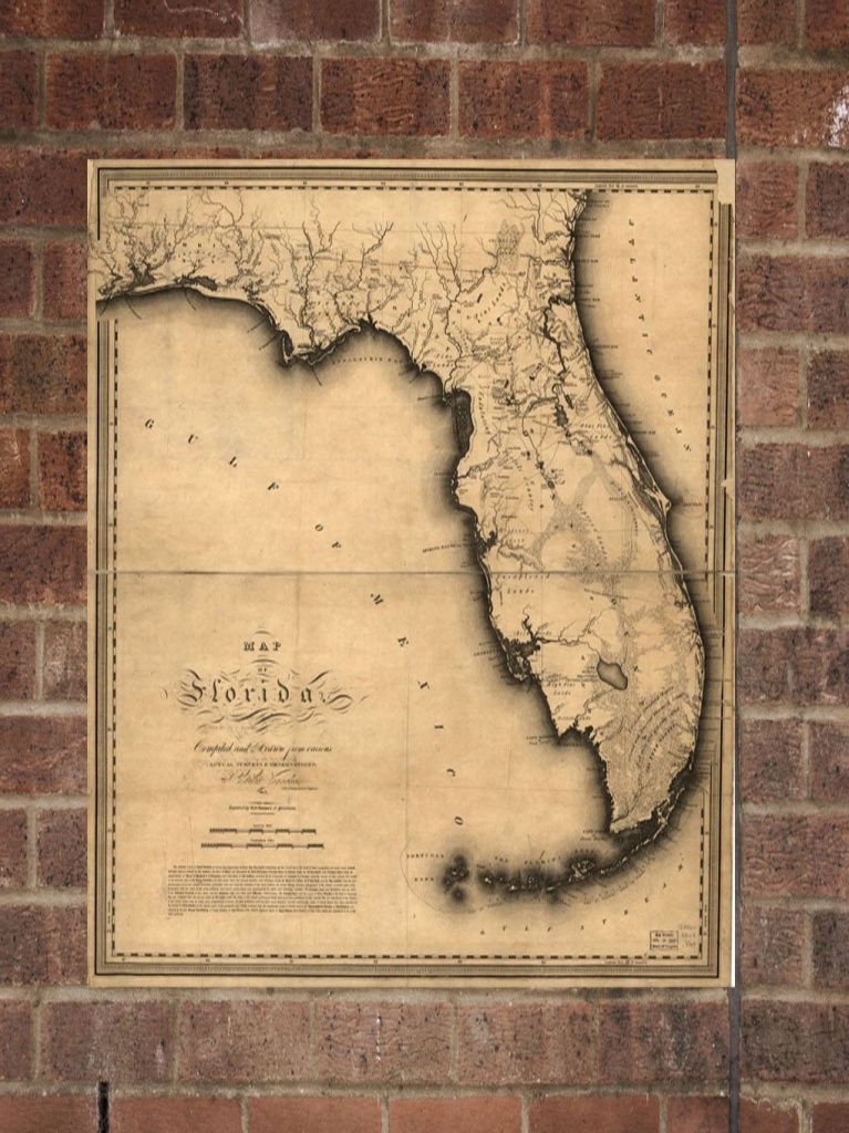 Vintage Florida Print, Aerial Florida Photo, Vintage Fl Pic, Old - Old Florida Maps Prints