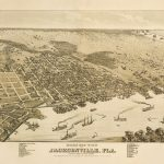 Vintage Map   Jacksonville, Florida 1876 | Chelsea's Things   Old Maps Of Jacksonville Florida