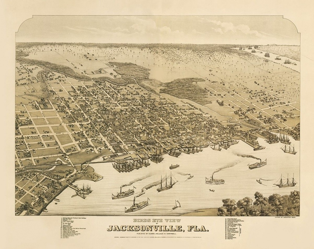 Vintage Map - Jacksonville, Florida 1876 | Chelsea's Things - Old Maps Of Jacksonville Florida