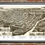 Vintage Map Of Macon, Georgia 1887   Ted's Vintage Art   Printable Map Of Macon Ga