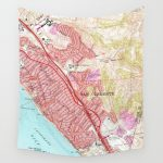 Vintage Map Of San Clemente California (1968) Wall Tapestry   San Clemente California Map