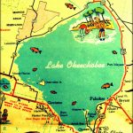 Vintage Vacation Maps   Google Search | Cookie Connection Contest #1   Fishing Map Of Lake Okeechobee Florida