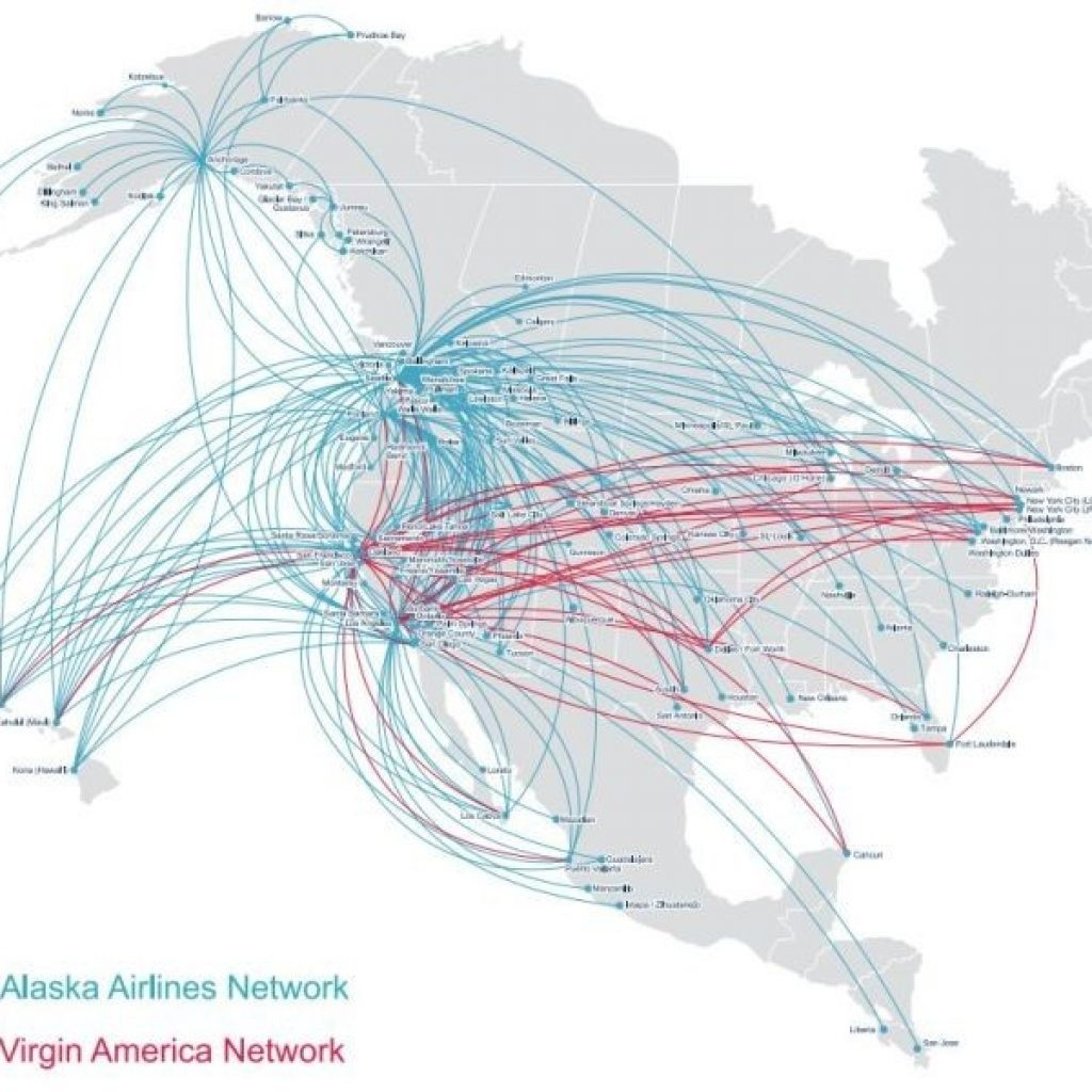 Virgin America Route Map What We Know About Alaska S Plan To Take Over - Alaska Airlines Printable Route Map