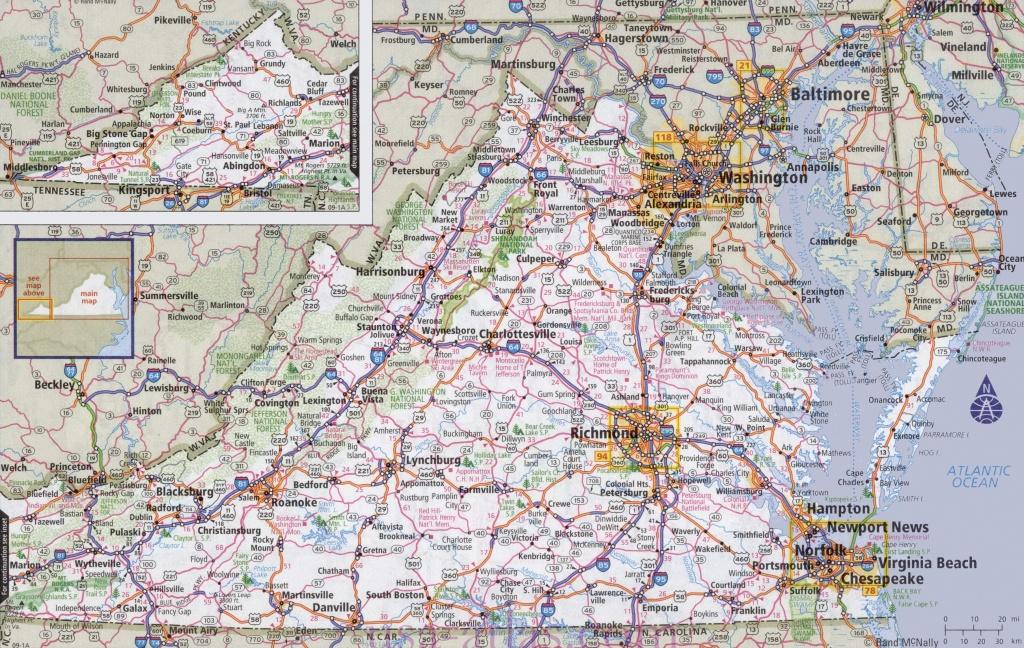 Virginia State Maps | Usa | Maps Of Virginia (Va) - Virginia State Map Printable
