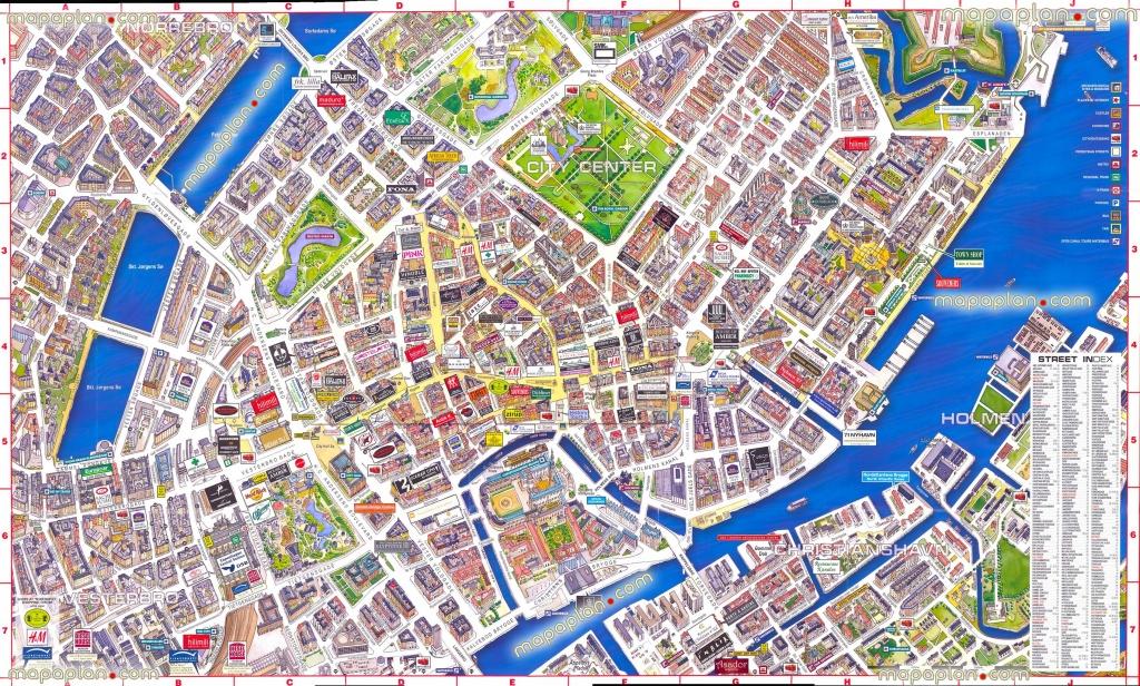 Virtual Interactive 3D Copenhagen Denmark City Center Free Printable - Printable Map Of Copenhagen