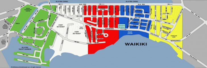 Printable Map Of Waikiki