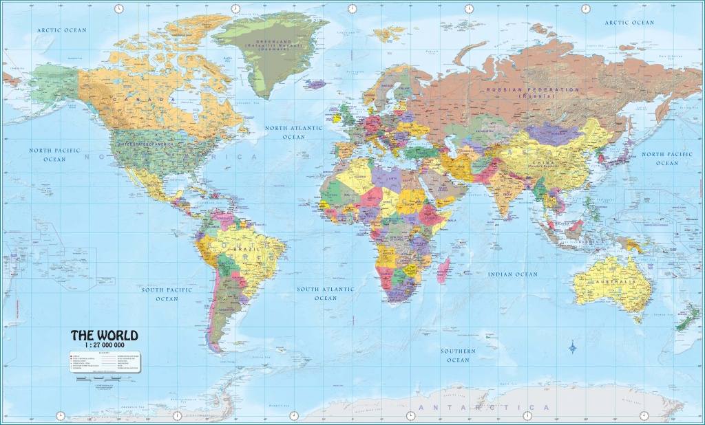 Wall Maps Of The World - Free Printable Large World Map Poster
